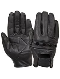Rothco Black Leather Motorcycle Gloves
