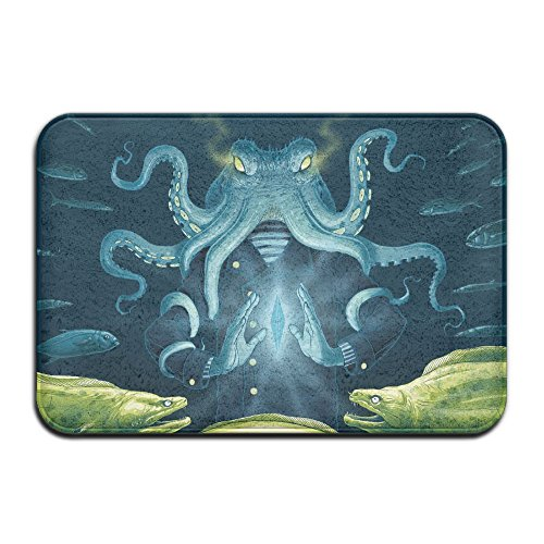 1 Piece Smart Dry Memory Foam Bath Kitchen Mat For Bathroom - North Pacific Giant Octopus Shower Spa Rug 18X36 Door Mats Home Decor With Non Slip Backing - 3 Sizes by BesArts (Image #6)
