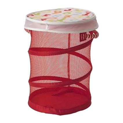 IKEA KUSINER de malla cesta para guardar juguetes para niños - rojo