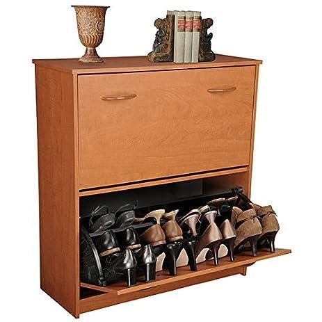 Wonderful Venture Horizon Double Shoe Cabinet  Cherry