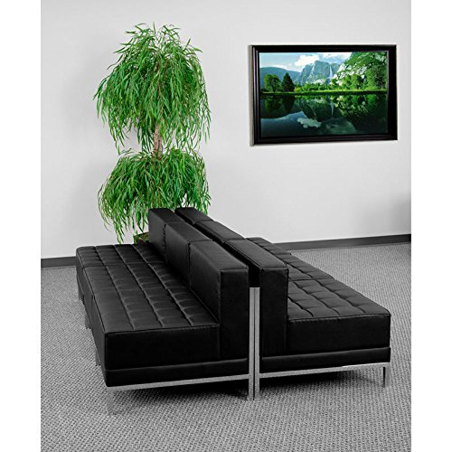 US Stock 6 Pieces Flash Furniture HERCULES Imagination Series Black Leather Lounge - San Mall Outlet Antonio