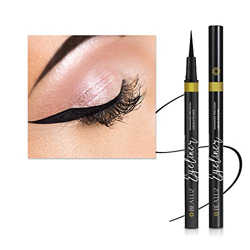 Felt Tip Liquid Eyeliner (Enhanced Liquid Eyeliner with New Design, Waterproof , Perfect Precise Lines,Non-Core High Sealing Liquid, Charming Eyeliner Deeply Pigmented by Bea Luz)