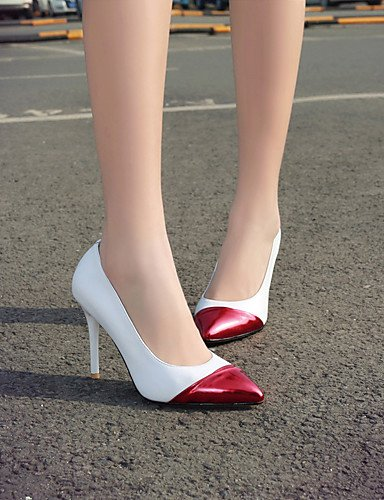Stilethæl Hvid Hvid hæle Eu36 Lejlighedsvis Uk4 Eu41 hæle 5 Uk7 Us6 10 kontor Og Ggx Cn42 8 hvid Hæle læder 5 Kvinde cn36 Sort Arbejde us9 Spidse 4Xw8ngEOq