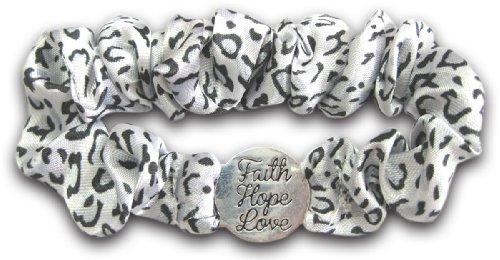 Faith Hope & Love Scrunch Bracelet Christian
