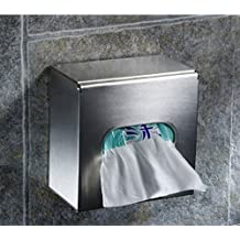 Hyun times 304 stainless steel wall-mounted pumping paper towel holder toilet paper holder toilet tissue boxes waterproof phone hand tray square