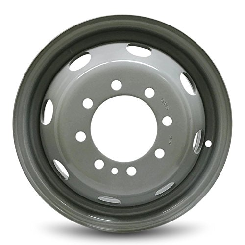 Ford Replacement Rims - Road Ready Car Wheel For 1992-2007 Ford E350 1996-2003 Ford E450SD 16 Inch 8 Lug gray Steel Rim Fits R16 Tire - Exact OEM Replacement - Full-Size Spare