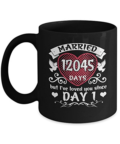 Cute Gifts For 33 Years Wedding Anniversary. Best Coffee Mug For Couples