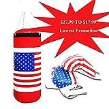 Kids Children's Boxing Punching Bag Sandbags Set Gloves US Flag, Special Lowest, US Store