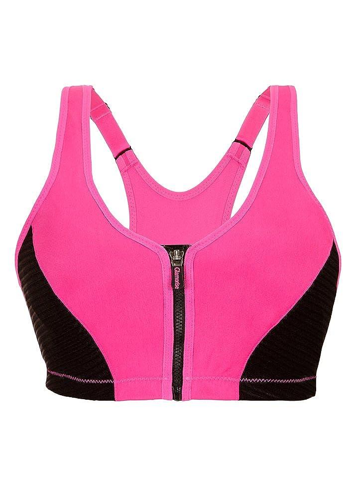 Glamorise Womens Full Figure High Impact Zipper Sport Bra #1266