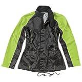 Joe Rocket RS2 Womens 2-Piece Motorcycle Rain Suit (Black/Hi-Viz, Medium)