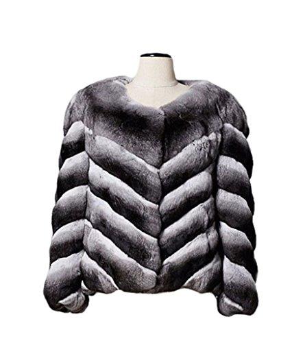 (Women's New Chinchilla Fur Bolero Jacket Coat Length 23