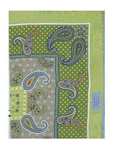"""Robert Talbott Green Handrolled Pocket Square 16.5"""" from Robert Talbott"""