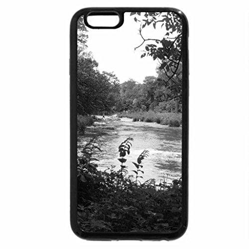 iPhone 6S Plus Case, iPhone 6 Plus Case (Black & White) - Sioux Falls State Park, South Dakota