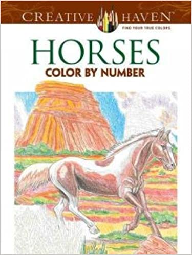 creative haven horses color by number coloring book creative haven coloring books amazoncouk george toufexis 9780486793849 books - Color By Number Books