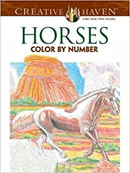Creative Haven Horses Color by Number Coloring Book (Creative ...