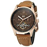 Forsining Men's Automatic Self-winding Day Calendar Leather Strap Brand Collection Wrist Watch FSG691M3R1
