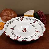 "12"" University of Alabama Ceramic Circle Chip & Dip"