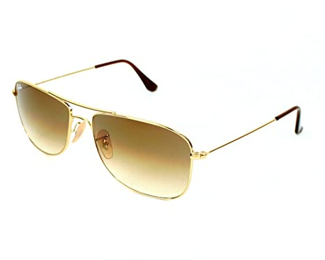 525d1e9087 Ray Ban Sunglasses RB 3477 RB3477 001 51 Metal Gold Gradient brown   Amazon.co.uk  Clothing