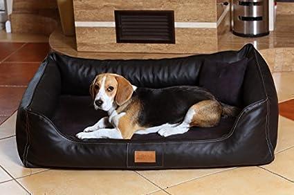 ortopédica cama para perro Maddox ORTHO VISCO de tierlando en Terciopelo de cuero atificial Sofá para