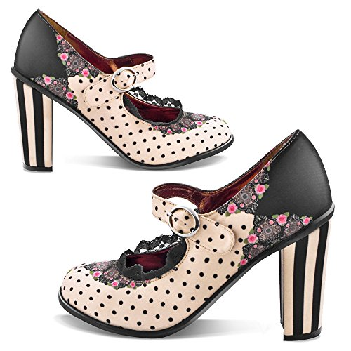 Hauts Mary Chocolaticas Escarpins pour Hot Jane Ballerines Talons Doris Design Femmes Chocolate zEFqvwnqX8