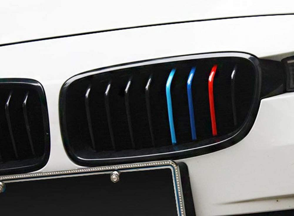etc iJDMTOY 10-Inch M-Colored Stripe Decal Sticker Compatible with BMW Exterior or Interior Decoration Such As Grille Fender Hood Side Skirt Bumper Side Mirror Dashboard Steering Wheel