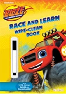 Blaze Race And Learn Wipe Clean Book The Monster Machines By