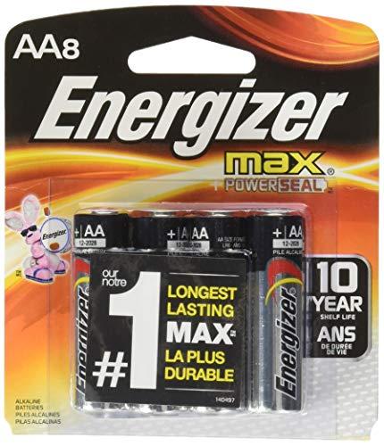 - Energizer Max Alkaline AA Batteries 8 ea