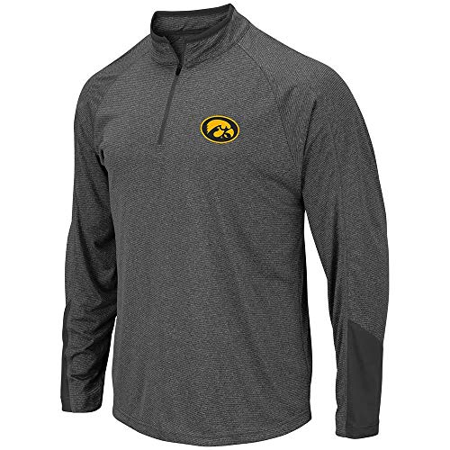 Iowa Quarters - Colosseum Mens Iowa Hawkeyes Tasmania Quarter Zip Wind Shirt - M