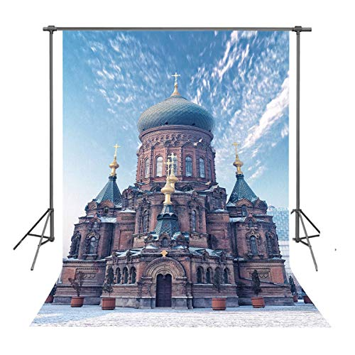 FUERMOR Background 5x7ft Saint Sophia Cathedral Photography Backdrop Photo Props LYFU223