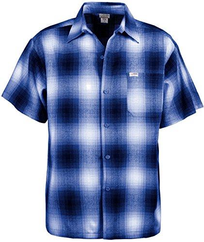 Guytalk Men's Regular-Fit Short-Sleeve Plaid Western Flannel Shirt 2XL - Flannel Short Sleeve