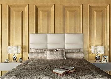 colchones y muebles baratos Cabecero tapizado Pisa bajo de Polipiel (150cm): Amazon.es: Hogar