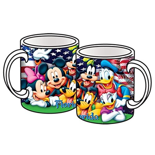 Disney Mickey Mouse Donald Duck Goofy Pluto Minnie Mouse Jumbo Ceramic Mug Firework Mug Jumbo 14oz Ceramic ()