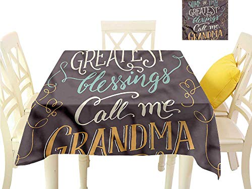 Davishouse Fabric Dust-Proof Table Cover Greatest Blessing Quote Waterproof/Oil-Proof/Spill-Proof Tabletop Protector W70 x -