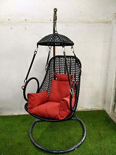 Wicker HUB GC413 Outdoor Swing with Stand Black