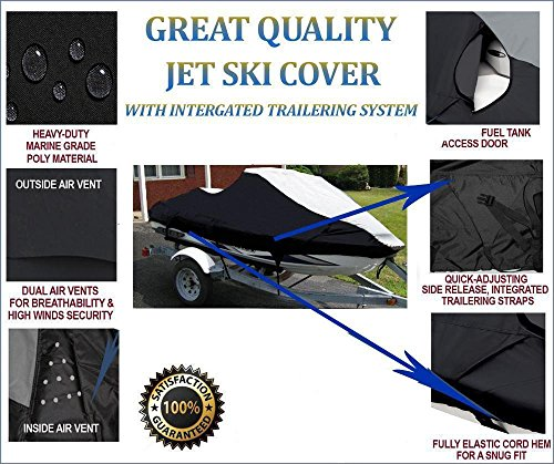 Extremely Durable, Breathable, Travel, Mooring and Storage Jet Ski Watercraft PWC Cover for Yamaha VXR 2015 2016 2017 by StopByUs (Image #1)