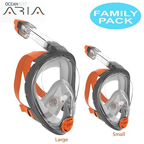 Ocean Reef Aria Full Face Snorkel Mask - FAMILY PACK (Includes Small and Large) by Ocean Reef (Image #1)