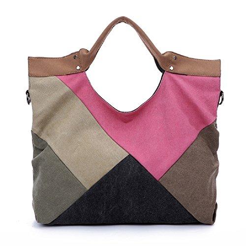 Supersbion - Bolso mochila para mujer Varios colores multicolor, rosa (Varios colores) - BS-0014 rosa