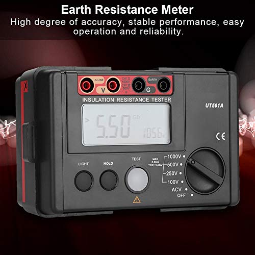 Large LCD Display Resistance Meter Insulation Tester Voltmeter for Electrician