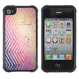 "Pulsar iFace Series Tpu silicona Carcasa Funda Case para Apple iPhone 4 / iPhone 4S , Chevron Rústico Wallpaper Marrón Violeta"""