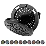 TT-star Car Diffuser Vent Clip - Aromatherapy Essential Oil Diffuser Car Fresher Stainless Steel Black Clip