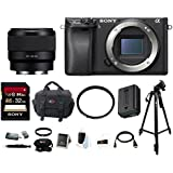 Sony a6300 Mirrorless Digital Camera (Body Only) with FE 50mm Lens & Focus Accessory Bundle