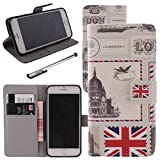 Urvoix For Apple iPhone 6/6S (4.7 inches), PU Leather Wallet Case Flip Cover [London] w/ Stand Feature / Magnetic Closure / ID Credit Card Cash Holder (NOT for iPhone 6Plus)