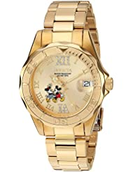 Invicta Womens Disney Limited Edition Quartz Stainless Steel Casual Watch, Color:Gold-Toned (Model: 22868)