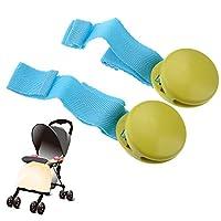 Pixnor Durable Hard Plastic Baby Stroller Quilt Blanket Clip - 2 pcs/set (Gre...