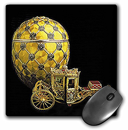 3dRose LLC 8 x 8 x 0.25 Inches Mouse Pad, Picturing Faberge Egg Coronation (mp_568_1)