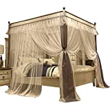 4 Corner Canopy Bed Curtains For Girls Bed Canopies Mosquito Net Bed Frame Draperies