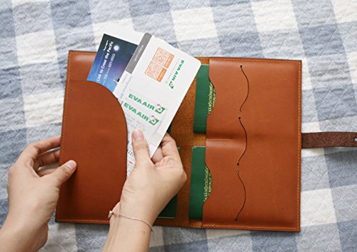 Handmade Curious Family Passport Holder - Leather Travel Multiple Passports Wallet by Handmade Curious (Image #4)