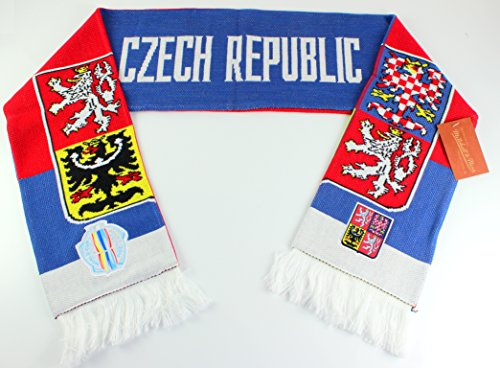 Mitchell & Ness World Cup Of Hockey Team Country Knitted Scarf (One Size, Czech Republic)