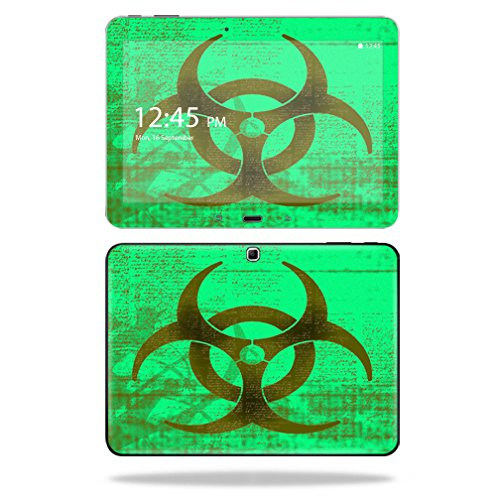 "UPC 682017802992, Mightyskins Protective Vinyl Skin Decal Cover for Samsung Galaxy Tab 4 10.1"" T530 Tablet skins wrap sticker skins Biohazard"