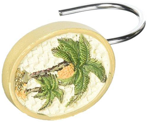 Avanti Linens Colony Palm Shower Hooks, Ivory
